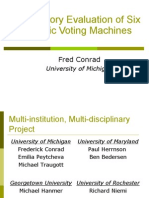 A Laboratory Evaluation of Six Electronic Voting Machines
