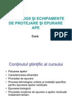Tehnologii Si Echipamente de Epurare a Apei