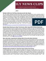 Thurs., Jan. 5 News Summary