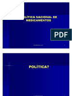 Política Nacional de Medicamentos(RESUMO)