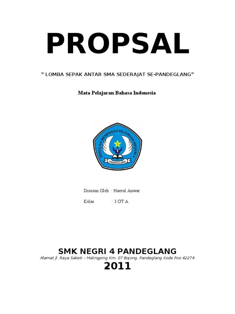 Proposal Lomba Sepak Bola