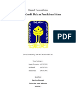 Hukum Kredit Dalam Pemikiran Ekonomi Islam