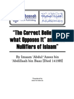 The Correct Belief and What Opposes It and the Nullifiers of Islaam - Shaykh 'Abdul 'Aziz  bin Baz