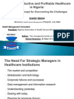 Managing Productive and Profitable Healthcare in Nigeria