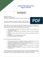 Declaration de la FCPE au CAEN du 4 janvier 2012