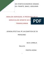 Analiza Servqual a Produselor Si Serviciilor Oferite de Banca Transilvania
