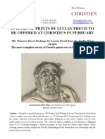 25 Years Of Prints By Lucian Freud To Be Offered At Christie'S In February