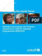 Sharpening the equity focus