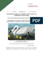 Audubon'S Birds Of America Set To Fly At Christie's New York