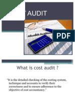 Cost Audit.....