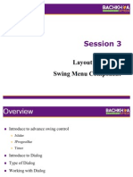 Session 3 - Layout Manager and Swing Menu Component