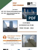 API Schedule 2012