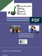 Sibling Leadership Network Webinar with Autism NOW December 20, 2011