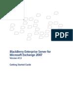 Blackberry Enterprise Server for Microsoft Exchange 2007 Getting Started Guide