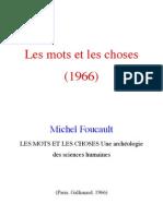 Les Mots Et Les Choses -Foucault