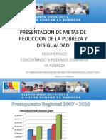 Presentacion Metas de Reduccion de La Pobreza Region Pasco - Encuentro de Equipos Tecnicos