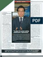 Entrevista a Fander Falconí Secretario Nacional de Planificación y Desarrollo.