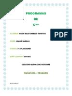 PROGRAMAS BELEN CABELLO