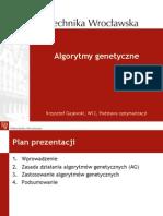 Metody optymalizacj - Algorytmy Genetyczne