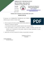 Resolucion 186 FEVEFUSA