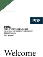 Projector Manual 5848