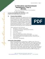 Meta 1 Part 2 Syllabus 1-4-12