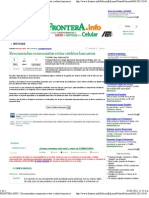 04-01-12 Economistas invitan a evitar Creditos Bancarios