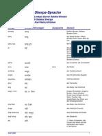Wörterbuch der Sherpa-Sprache