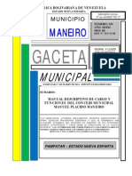 Gaceta310 Para Manual de Cargos