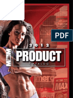 2012 Max Muscle Sports Nutrition Product Guide