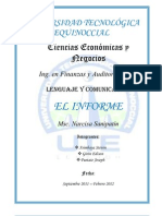 Tesina El Informe Grupo II