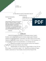 Sunahara v. Hawaii Dept. of Health, et al. Complaint for Declaratory Judgment