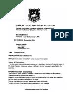 STPRI QE 2004 PAPER 1