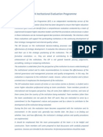 The EUA Institutional Evaluation Programme