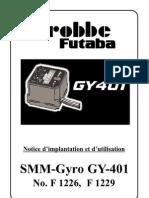 Notice Gyroscope Futaba Gy401