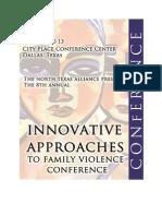 2012 Innovative Approaches to Family Violence E-Program