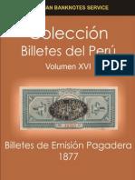 1877 Billetes Fiscales de Emision Pagadera