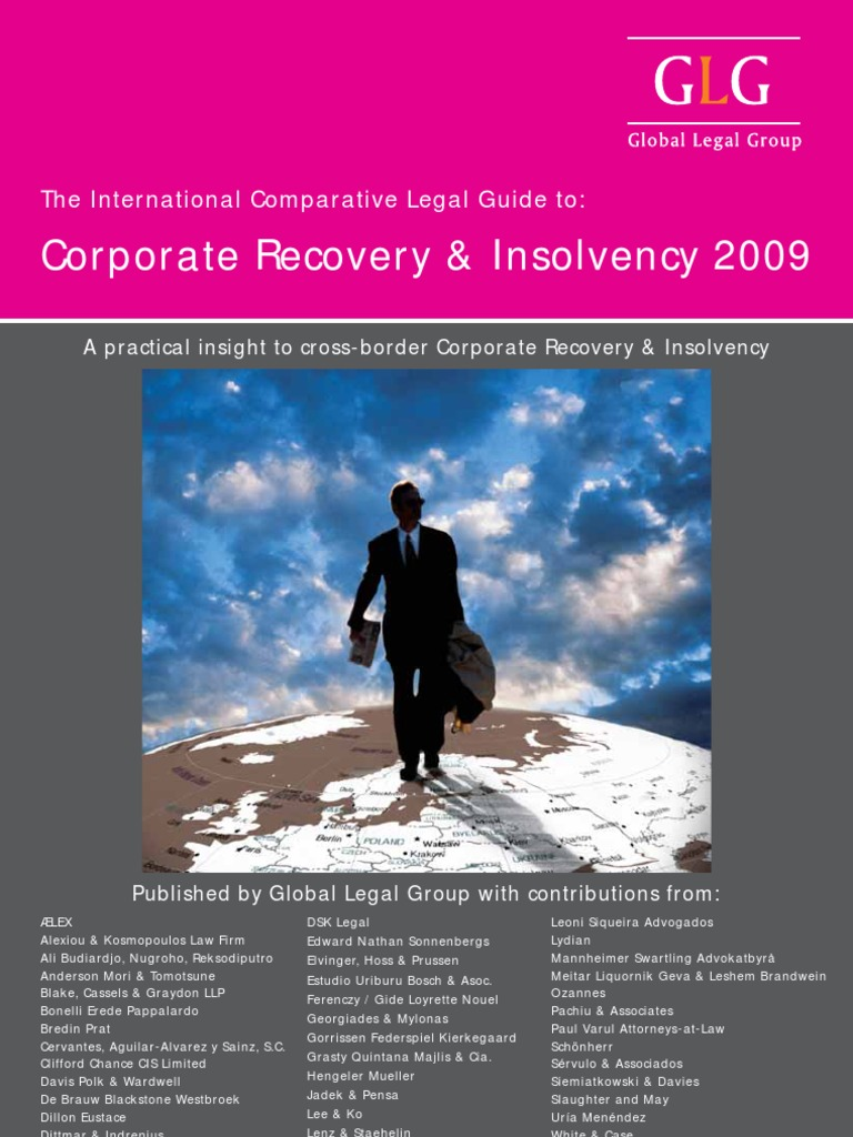 Intl Legal Guide to Corp Recovery & Insolvency | Bankruptcy In The United  States | Bankruptcy