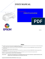 Epson Stylus Color 580 Service Manual