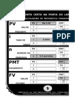 Ferramentas Eletronicas 1 - Calculadora de a Financeira - Microsoft Excel 2003
