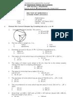 Test Matematika Mid Semester 2 Class 8 2011