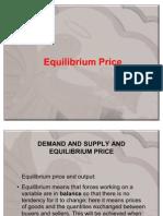 Demand & Supply Equilibrium.finaL 2011