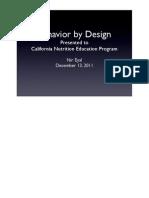 Behavior by Design
