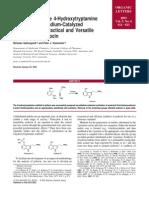 Nicholas Gathergood and Peter J. Scammells- Preparation of the 4-Hydroxytryptamine Scaffold via Palladium-Catalyzed Cyclization