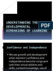 Understanding the Developmental Dimensions of Learning