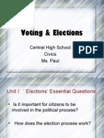 Unit 1- Elections