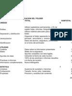 Calificación del Folder