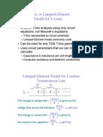 T-Line Circuit Model