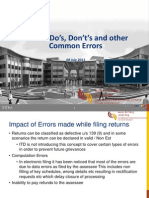 do's, don't's and common errors while e-filing income tax return
