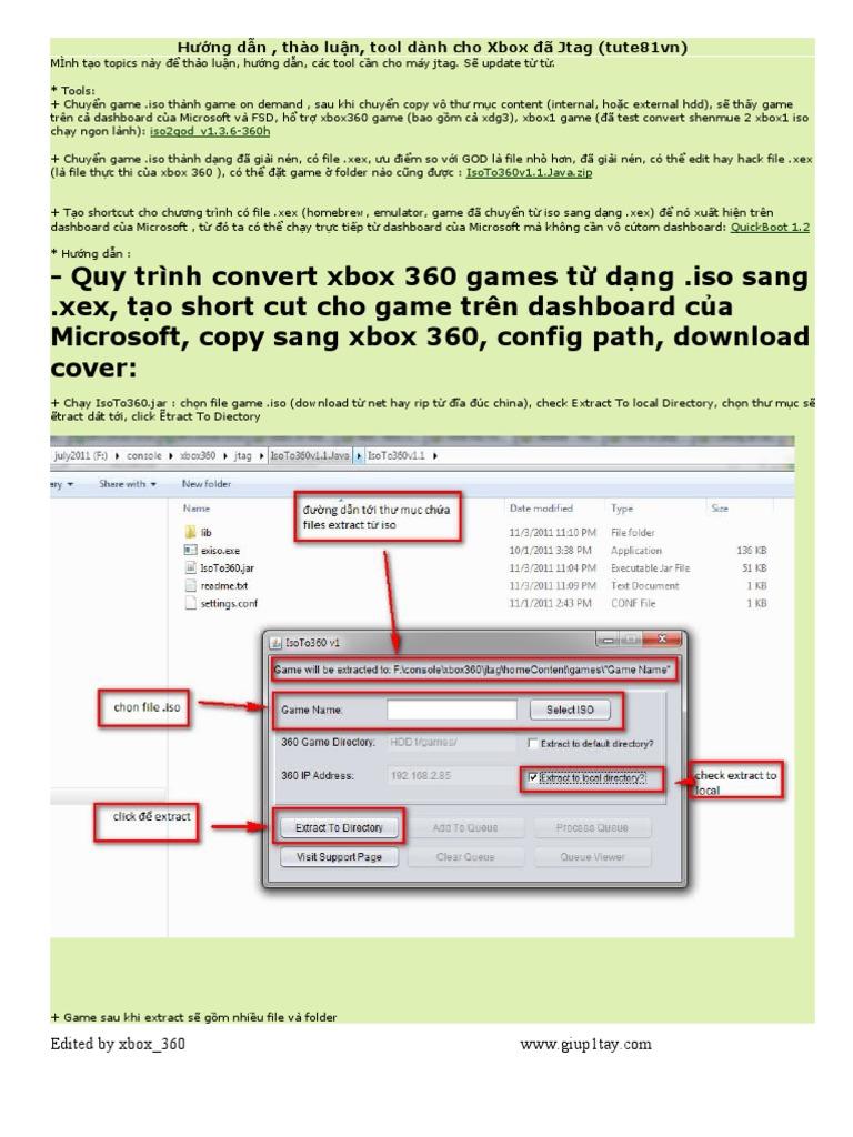 Hướng dẫn , thảo luận, tool dành cho Xbox đã Jtag